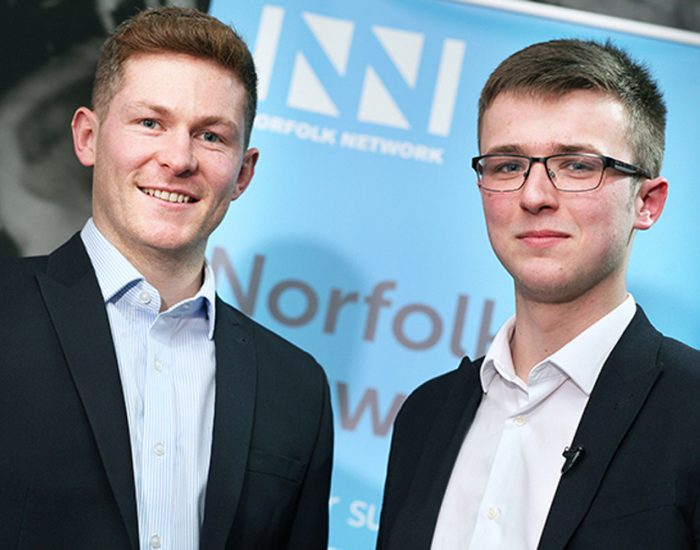 George Davis and Benjamin Murphy, Group COO for SenLab Group